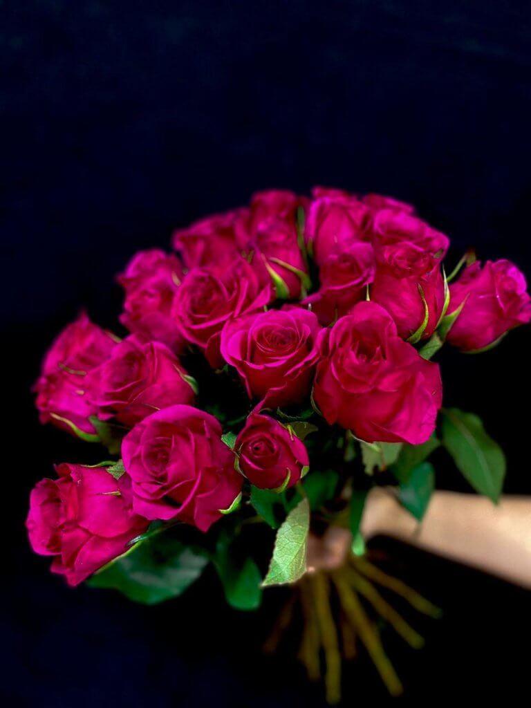 Малиновые розы 50 см (Кения)