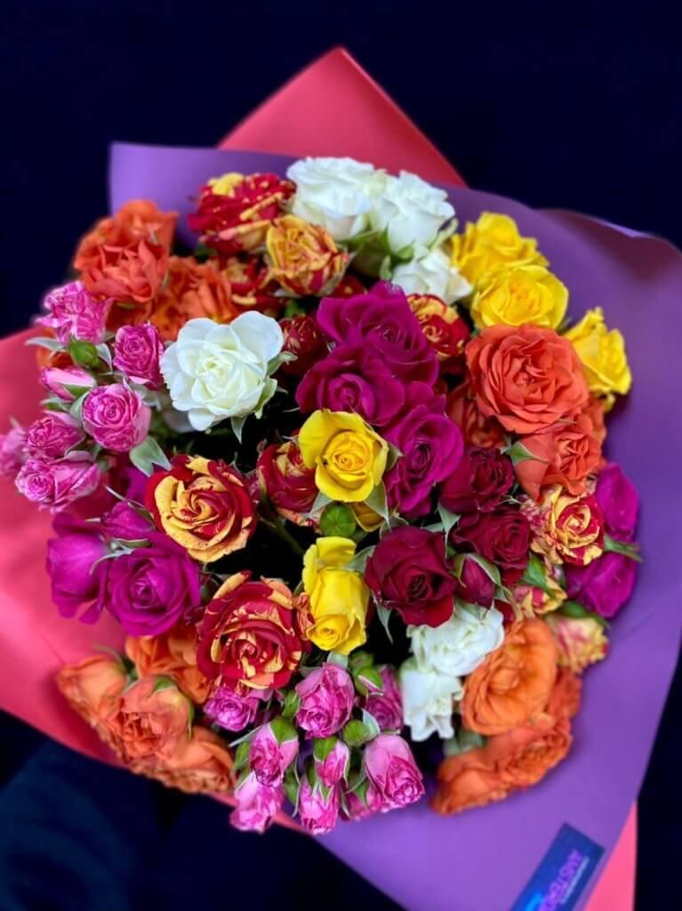 Кустовые розы 40 см