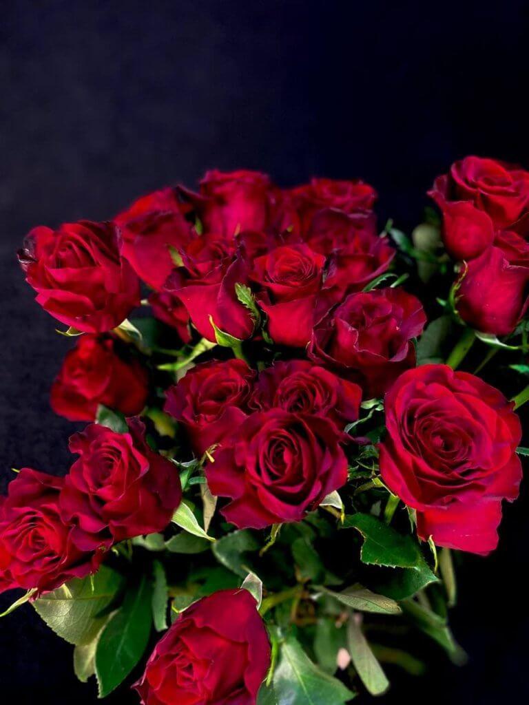 Красные розы 80 см